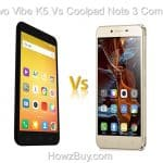 lenovo vibe k5 vs coolpad note 3 compare