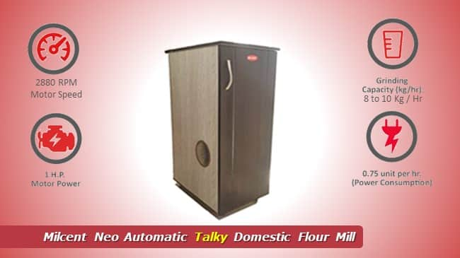 Milcent Neo Automatic Talky Domestic Flour Mill review