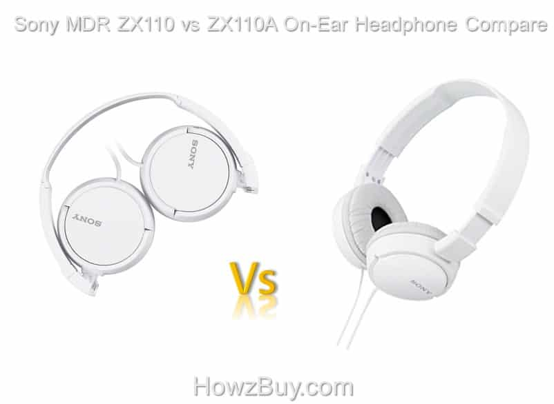 Sony MDR ZX110 vs ZX110A On-Ear Headphone Compare