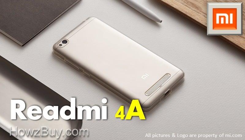 Xiaomi Redmi 4A online sale in India (Amazon & Flipkart)
