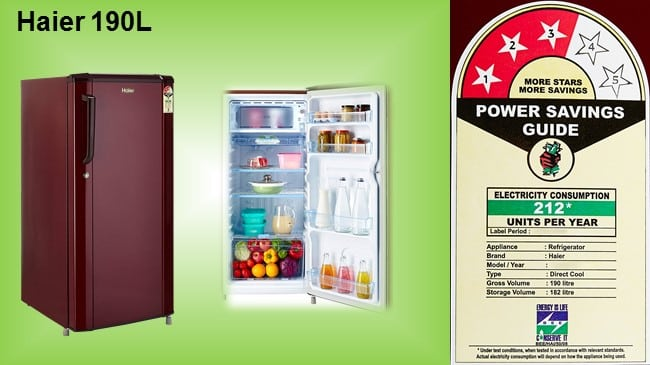 Haier 190L Direct Cool Single Door Refrigerator review