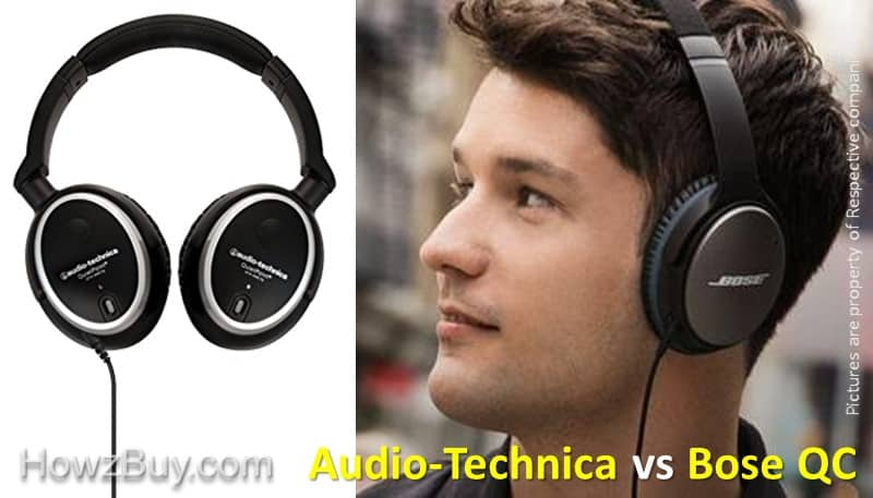 Audio-Technica ATH-ANC7B vs Bose QuietComfort 25 NC review