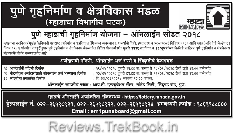 mhada lottery 2018 pune online application form PDF download