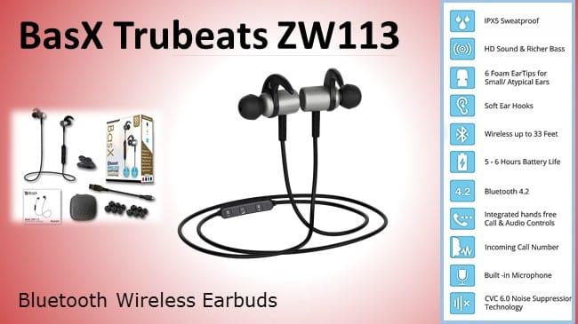 BasX Trubeats Bluetooth Wireless Earbuds review