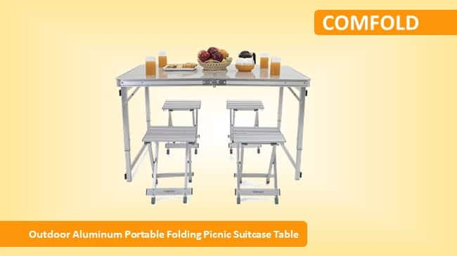 COMFOLD Outdoor Aluminum Portable Folding Picnic Suitcase Table review
