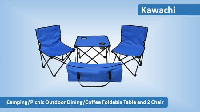 Kawachi Camping Picnic Outdoor Foldable Table and Chair Review