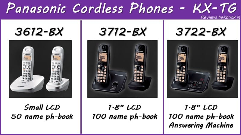 Panasonic Cordless Phones KX-TG comparison & review
