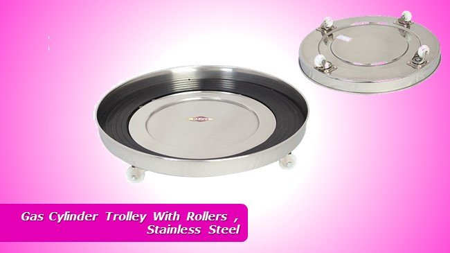 Gas Cylinder Trolley With Rollers , Stainless Steel review