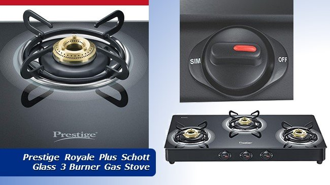 Prestige Royale Plus Schott Glass 3 Burner Gas Stove review