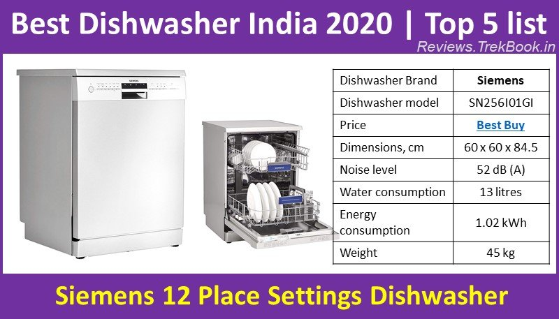 Siemens 12 Place Settings Dishwasher SN256I01GI Product review - Top Dishwasher India