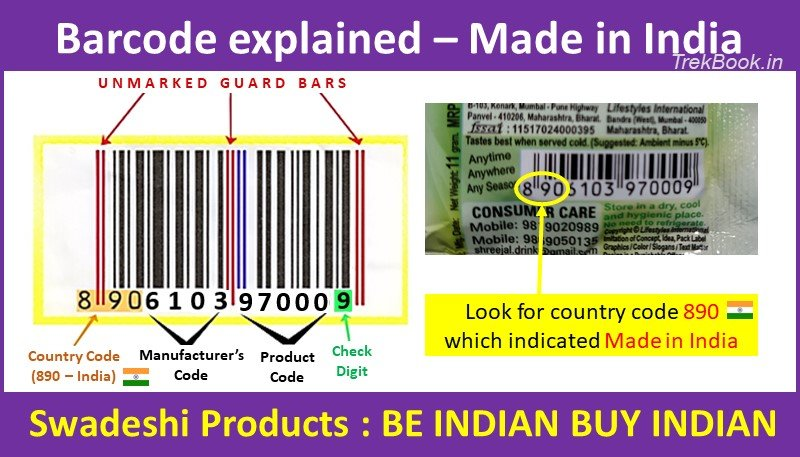 barcode country code for India how to check swadeshi product