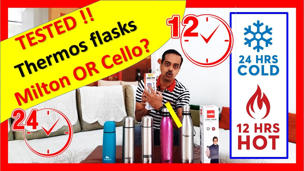 Milton vs Cello Thermos Flask 24 Hour Temp Test Best Hot Water, tea, coffee Vacuum Flask India