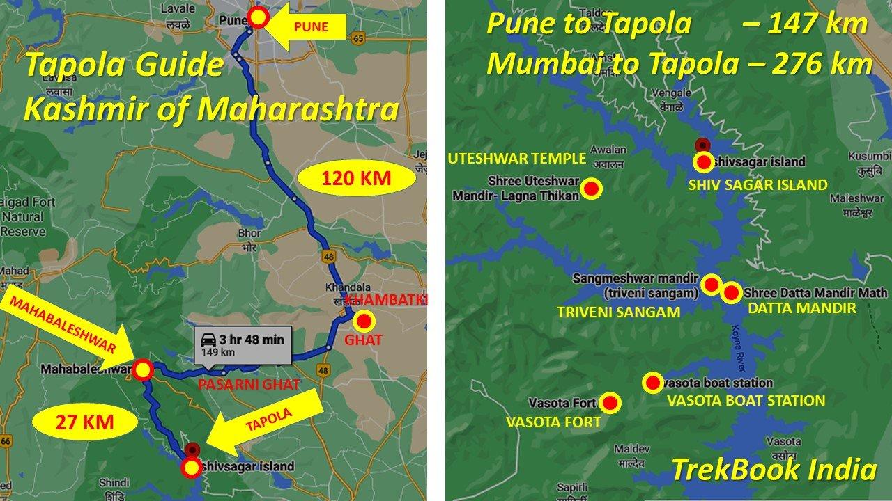 tapola mahabaleshwar map lake points places to visit