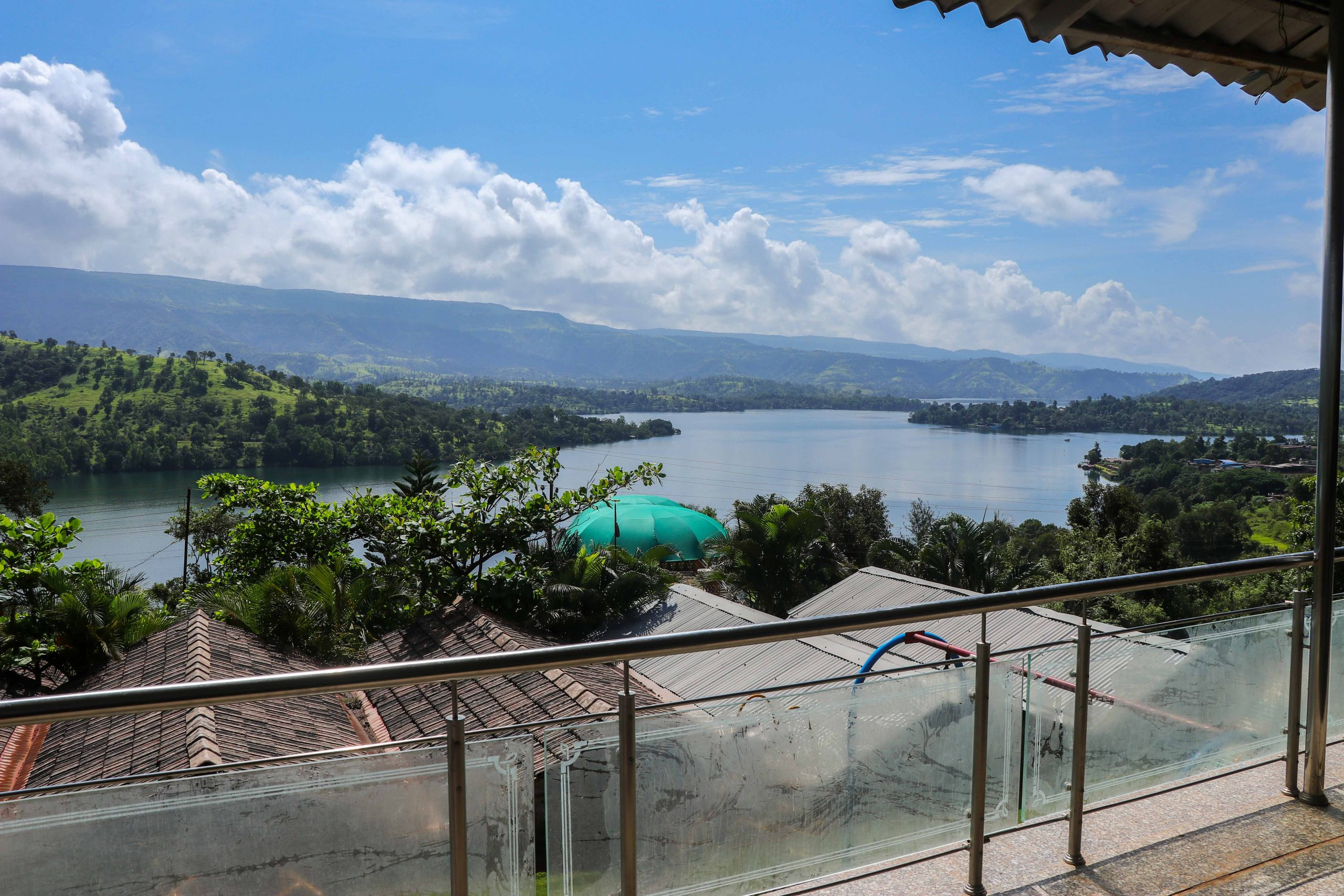 Nisarga Agro Tourism, Tapola, Mahabaleshwar lake view from room sitout