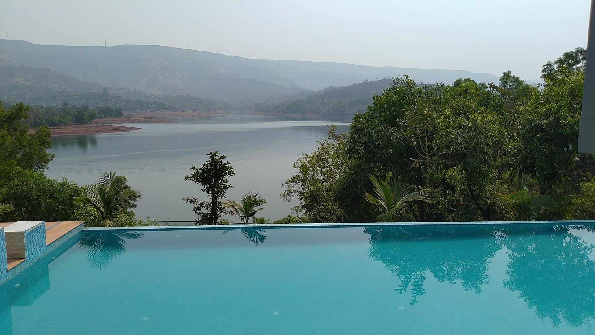 The Nihal Resort, Tapola, Mahabaleshwar infinity swimming pool
