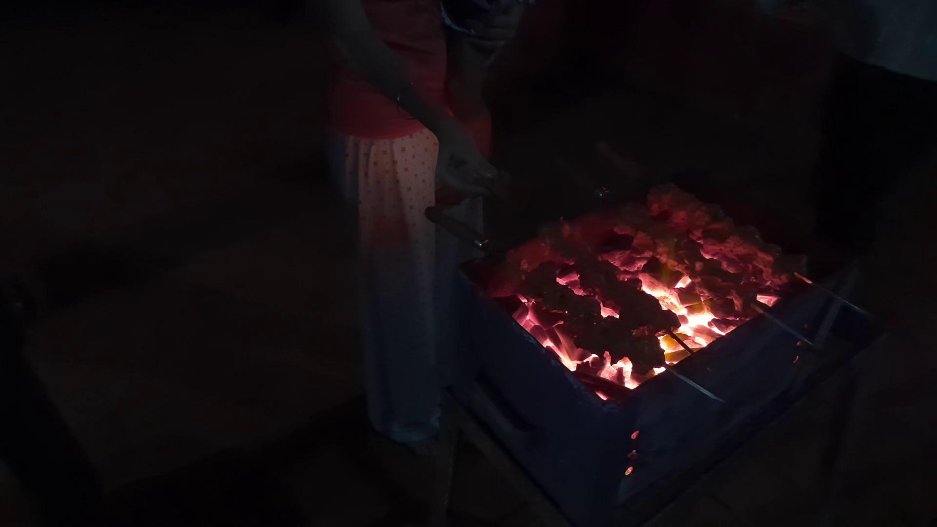 barbecue at camp at tapola mahabaleshwar